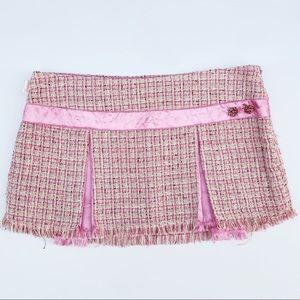 Hollister | Pink Tweed Pleated Mini Skirt - 5